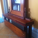 Mirror with stand